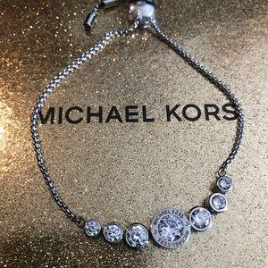 Michael Kors bracelet silver w crystals New!